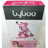 Коляска для кукол четырехколесная летняя Byboo Pink 97040 розовая с поворотными передними колесами Loko Toys - 2