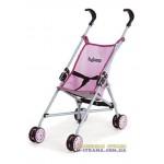 Коляска для кукол тросточка четырехколесная летняя Byboo Pink розовая
