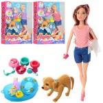 Кукла Heyley Barbie 3 вида,собака отряхивается и виляет хвостом,набор для купания, в коробке