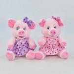 Мягкая игрушка C31161 Свинка 2 цвета в платье