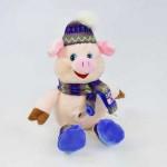 Мягкая игрушка C31859 Свинка в шапке 27см в полиэтилене