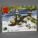 Конструктор Brick-Вертолет, 275 деталей