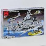 Конструктор Brick-Военный корабль, 843 деталей