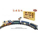 Железная дорога на батарейках пульт д/у, музыка, световые эффекты, поезд, 3 вагона, в коробке 0620
