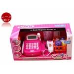 Игрушечный кассовый аппарат Мой магазин 7019 на батарейках, продукты, корзинка