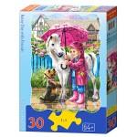 Пазл Castorland Rainy Day with Friends 30эл B-03426 Дождливый день