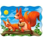 Пазл Castorland Squirrel Mom and her Baby 30эл A-03693 Мама белка и её ребёнок