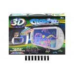 Магическая доска для рисования с 3D-эффектом с подсветкой,3D-очки,фломастеры YM163