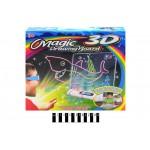 Магическая доска для рисования с 3D-эффектом с подсветкой,3D-очки,фломастеры YM171