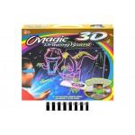 Магическая доска для рисования с 3D-эффектом с подсветкой,3D-очки,фломастеры YM191