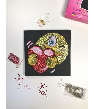 Набір для творчості з паєток 'Закоханий смайл' 25 * 25 * 2 см в кольоровій коробці APT 01-02-Колібрі Art