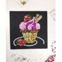 Набір для творчості з паєток 'Спокусливе тістечко' 25*25*2 см в кольоровій коробці APT 01-04-Колібрі Art