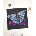 Набір для творчості з паєток 'Грайливий метелик' 25*25*2 см в кольоровій коробці APT 01-05-Колібрі Art