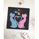 Набір для творчості з паєток 'Коти Ля Мур' 25*25*2 см в кольоровій коробці APT 01-06-Колібрі Art
