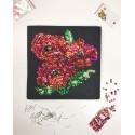 Набір для творчості з паєток 'Макова галявина' 25*25*2 см в кольоровій коробці APT 01-08-Колібрі Art