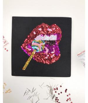 Набор для творчества из пайеток 'Сладкое искушение' 25*25*2 см в цветной коробке APT 01-09-Колібрі Art