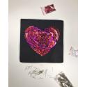 Набір для творчості з паєток 'Закохане серце' 25*25*2 см в кольоровій коробці APT 01-11-Колібрі Art