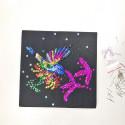 Набір для творчості з паєток 'Яскрава Колібрі' 25*25*2 см в кольоровій коробці APT 01-12-Колібрі Art