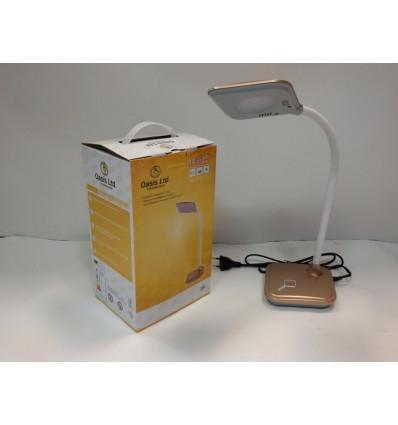 Лампа настільна світлодіодна OASIS GD-557 10 led 5 Вт 425 Лм 5500 К золотистий