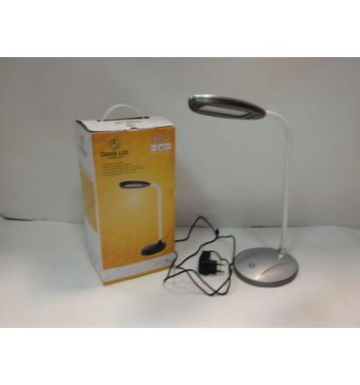Лампа настільна світлодіодна OASIS GD-504 12 led 6Вт 510 Лм 5500 К срібний