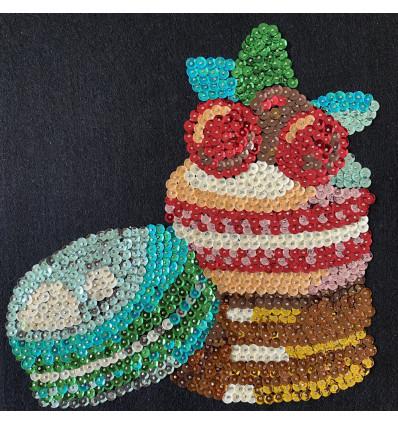 Набір для творчості з паєток \'Смаколики макаронс\' 25*25*2 см в кольоровій коробці APT 02-04-Колібрі Art