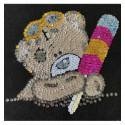 Набір для творчості з паєток 'Ведмедик Ласунчик' 25*25*2 см в кольоровій коробці APT 02-05-Колібрі Art