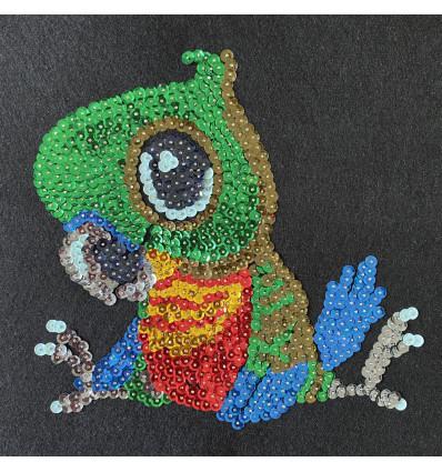 Набір для творчості з паєток \'Щасливий папуга\' 25*25*2 см в кольоровій коробці APT 02-07-Колібрі Art