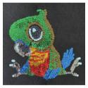 Набір для творчості з паєток 'Щасливий папуга' 25*25*2 см в кольоровій коробці APT 02-07-Колібрі Art