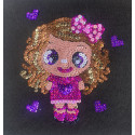 Набір для творчості з паєток 'Маленька красуня' 25*25*2 см в кольоровій коробці APT 02-03-Колібрі Art