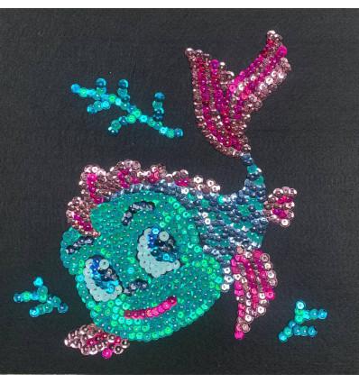 Набір для творчості з паєток 'Морські пригоди' 25*25*2 см в кольоровій коробці APT 02-08-Колібрі Art