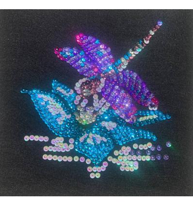 Набір для творчості з паєток 'Квiткова красуня' 25*25*2 см в кольоровій коробці APT 02-09-Колібрі Art