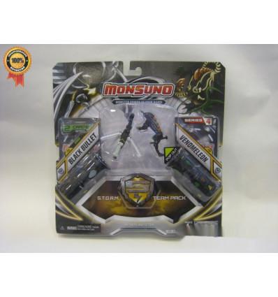Игровой набор на 2 игрока фигурки Blackbullet и Venomeleon (Сombat 2-Packs) W4 Monsuno - 1
