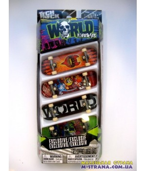 Набор из 4-х фингербордов Tech Deck Exclusive World Industries