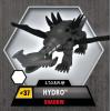 Игровой набор на 2 игрока фигурки Ядокрыл (Poisonwing) и Гидра (Hydro) Эффект тени (Shadow Edition) (Сombat 2-Pack) W3 Monsuno -